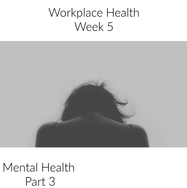 Workplace Health | Week 5 - Mental Health Part 3. The Conclusion