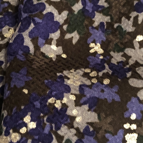 Floral Checkerplate Viscose Crepe
