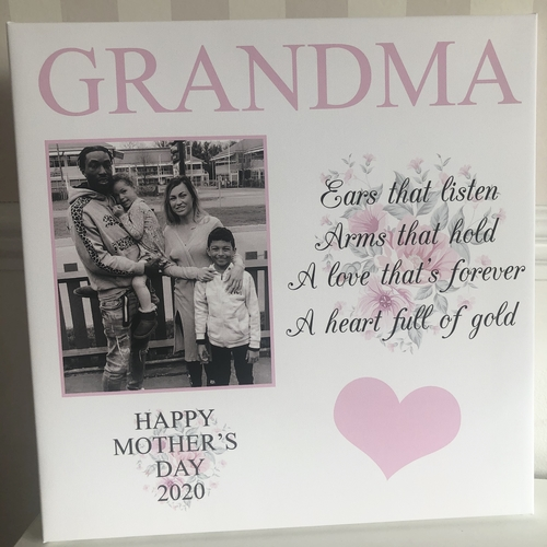 Personalised Photo Quote Glitter Canvas