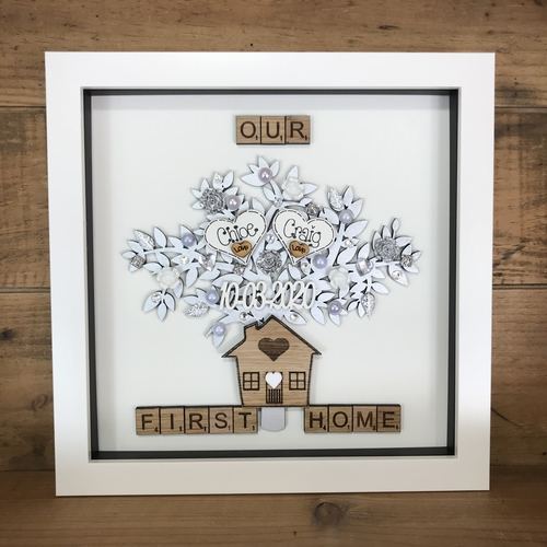 """ OUR FIRST HOME "" frame"