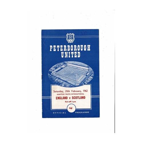 1962 England v Scotland Amateur Youth International Football Programme