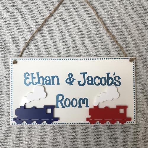 Train door plaque