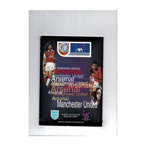 1998 Arsenal v Manchester United Charity Shield Football Programme