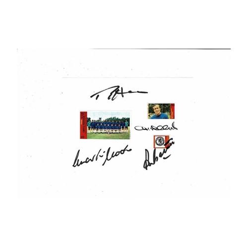 4 Chelsea Autographs on Sheet 1972
