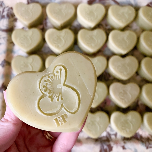 Eucalyptus and Lime Soap Heart