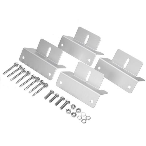 Aluminium Solar Panel Mounting Brackets. 2 Sets