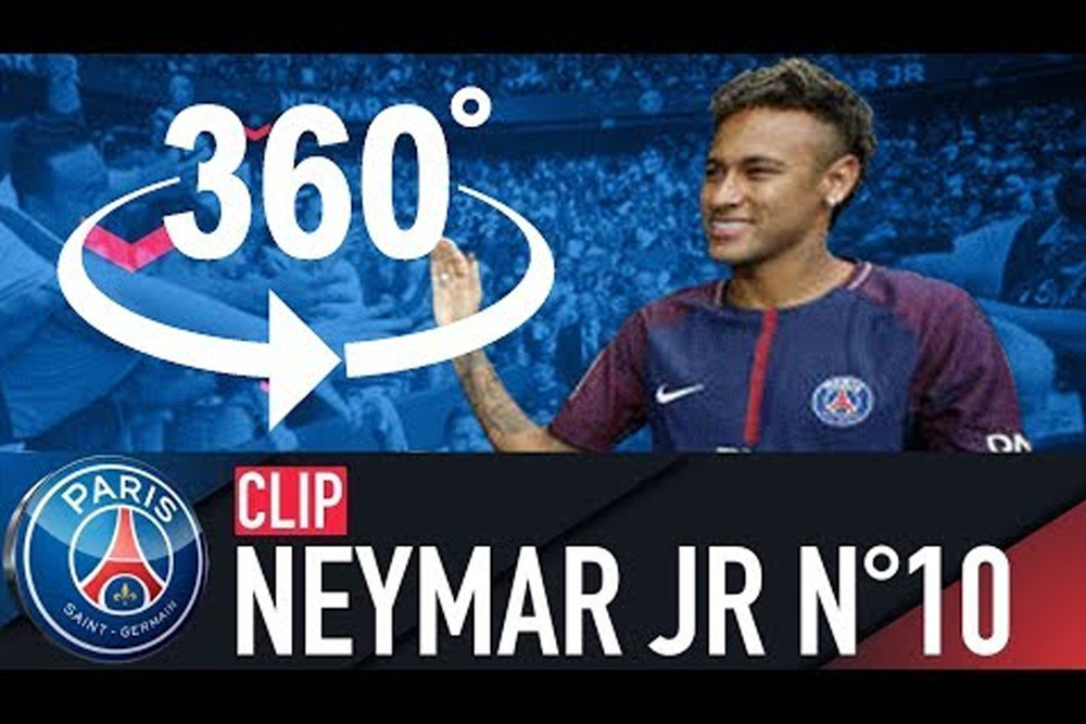 PARIS WELCOMES NEYMAR JR (360° VIDEO)