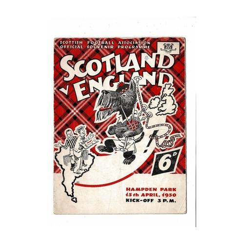 1950 Scotland v England Football Programme