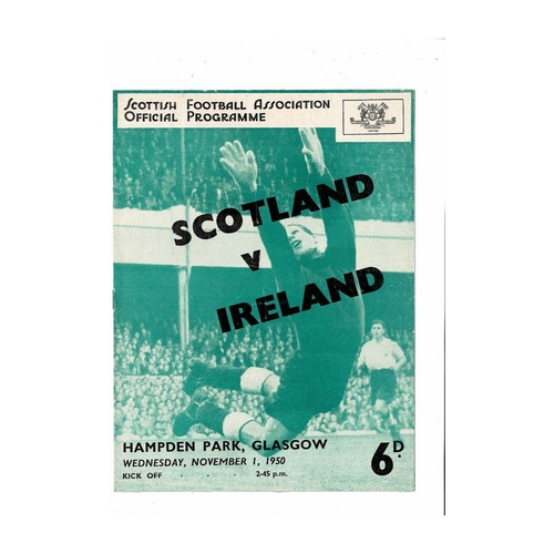 1950 Scotland v Northern Ireland Football Programme Autographed