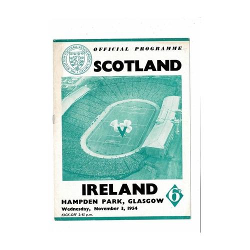 1954 Scotland v Northern Ireland Football Programme