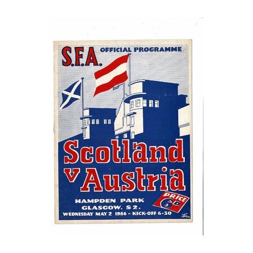 1955 Scotland v Austria Football Programme