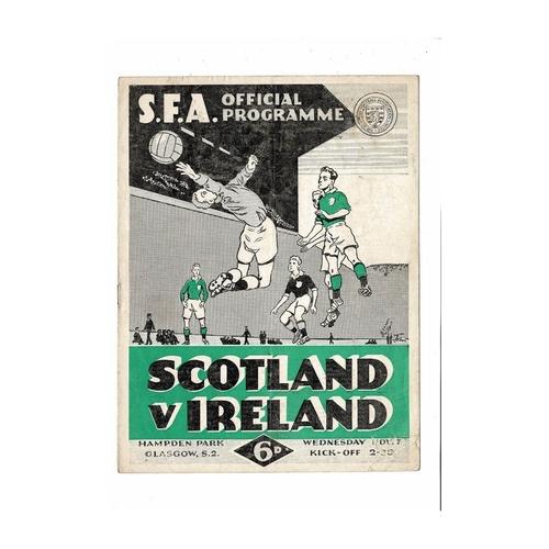1956 Scotland v Northern Ireland Football Programme