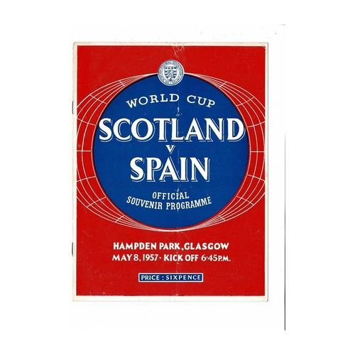 1957 Scotland v Spain Football Programme