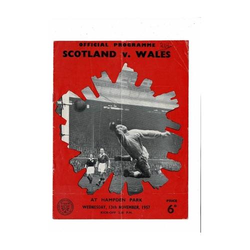 1957 Scotland v Wales Football Programme
