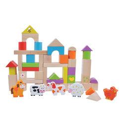 50 pc wooden Farm Blocks
