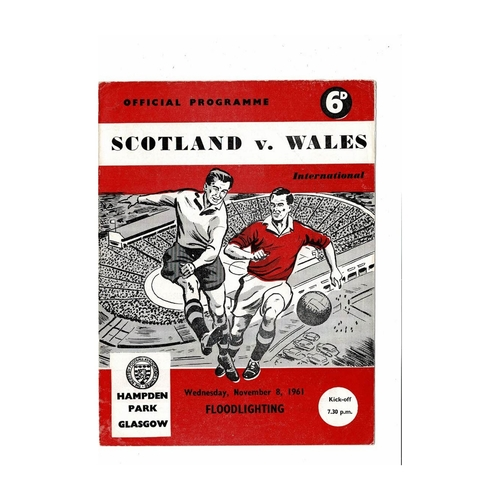 1961 Scotland v Wales Football Programme