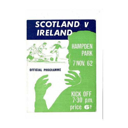 1962 Scotland v Northern Ireland Football Programme