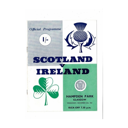 1964 Scotland v Northern Ireland Football Programme
