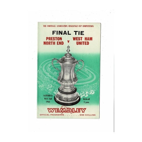 1964 Preston v West Ham United FA Cup Final Football Programme