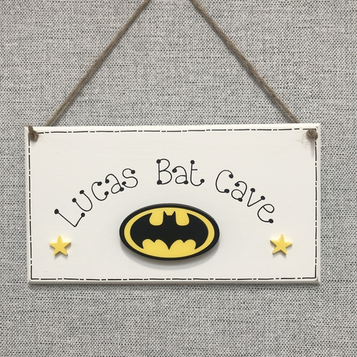""""""" Bat cave """" door plaque"""