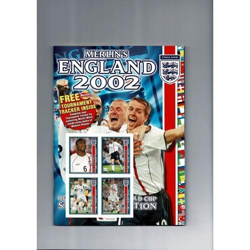 Merlin England World Cup 2002 sticker Album - Complete