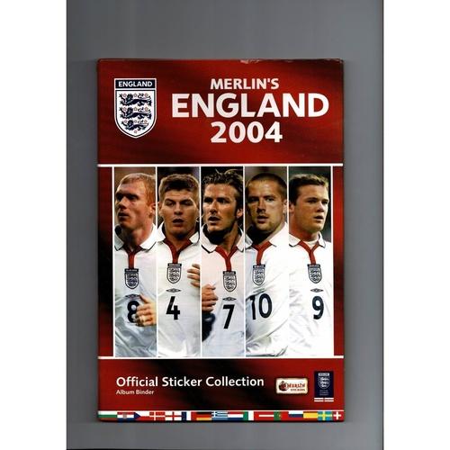 Merlin England Euro 2004 sticker Album + Binder Complete
