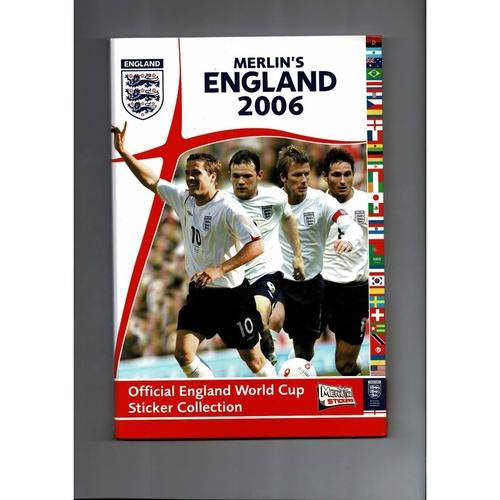 Merlin England World Cup 2006 sticker Album + Binder Complete