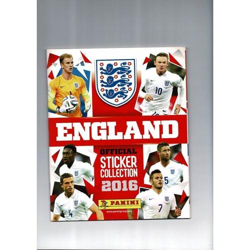 Panini England 2016 sticker Album Complete