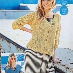 Crochet Jumper And Cardigan In Moonbeam DK Stylecraft 9628 Knitting Pattern