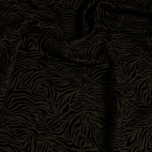 Zebra Print Khaki Jersey