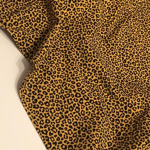 Petit Leopard Print Ochre Jersey