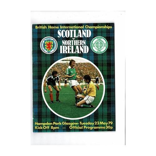 1979 Scotland v Northern Ireland Football Programme