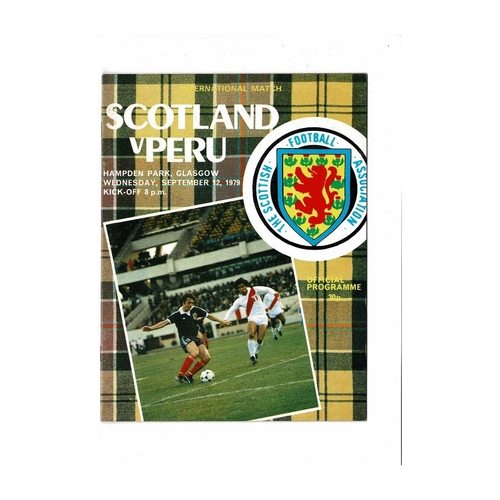 1979 Scotland v Peru Football Programme