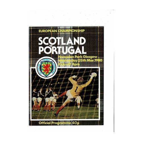 1980 Scotland v Portugal Football Programme March
