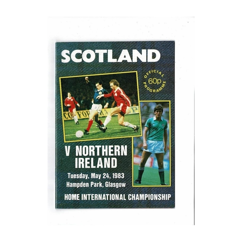 1983 Scotland v Northern Ireland Football Programme