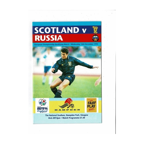 1994 Scotland v Russia Football Programme