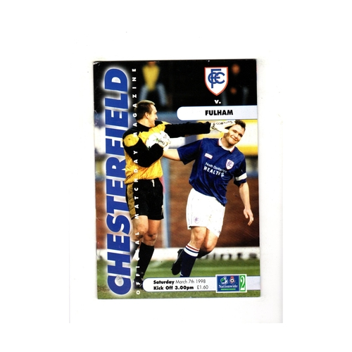 Chesterfield Home Football Programmes