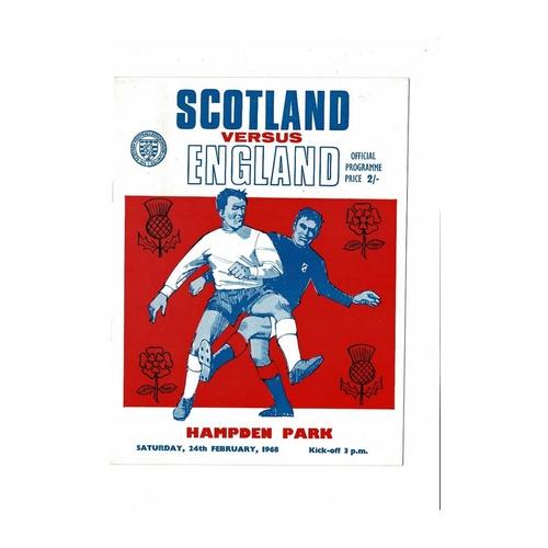 1968 Scotland v England Football Programme