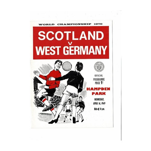 1969 Scotland v West Germany Football Programme