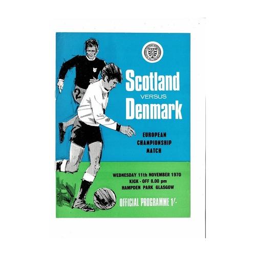 1970 Scotland v Denmark Football Programme