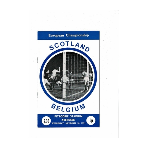 1971 Scotland v Belgium Football Programme