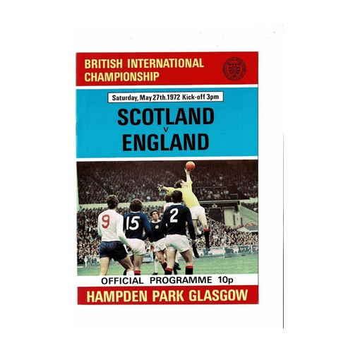 1972 Scotland v England Football Programme