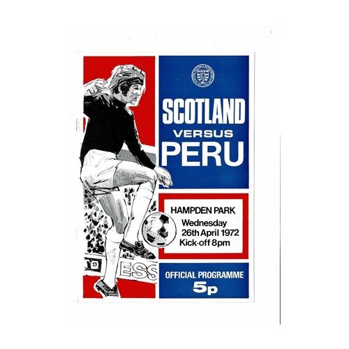 1972 Scotland v Peru Football Programme