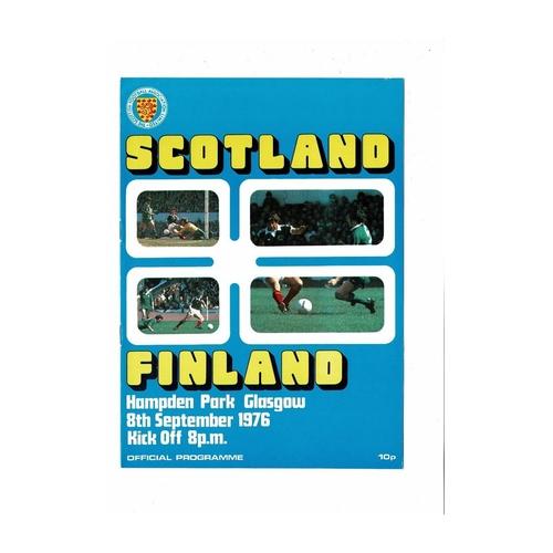 1976 Scotland v Finland Football Programme