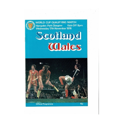 1976 Scotland v Wales Football Programme World Cup