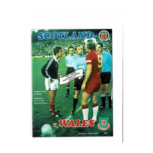 1978  Scotland v Wales Football Programme