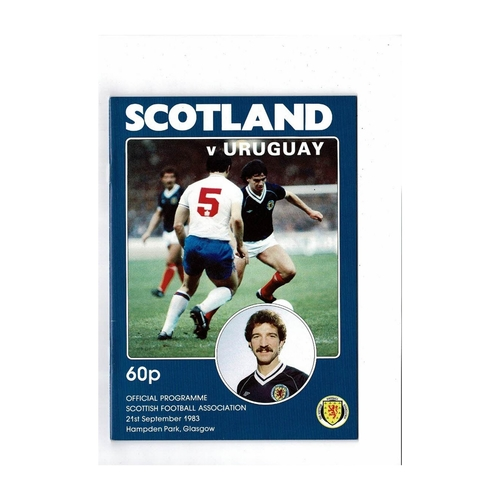 1983 Scotland v Uruguay Football Programme