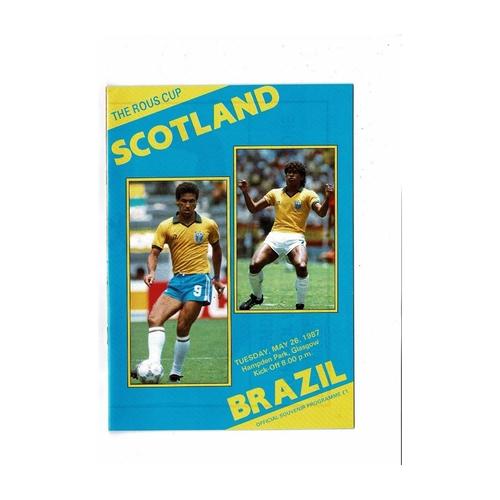 1987 Scotland v Brazil Football Programme
