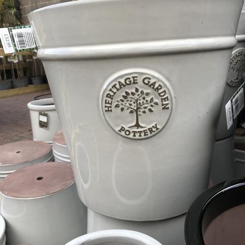 Woodlodge heritage 27cm pot white