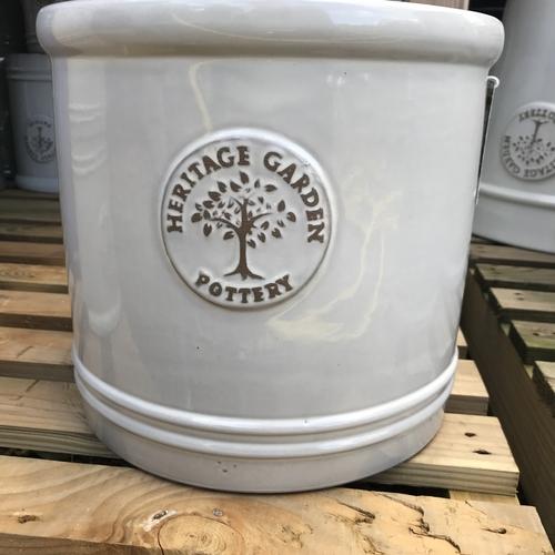 Woodlodge heritage 20cm cylinder pot white